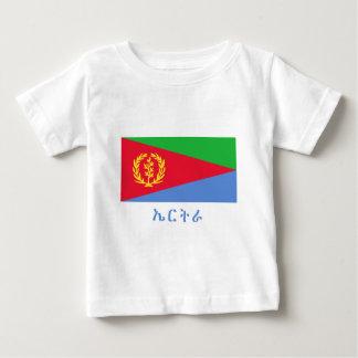 Eritrea-Flagge mit Namen in Tigrinya Baby T-shirt