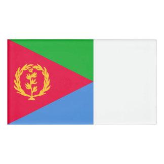 Eritrea-Flagge Namenschild