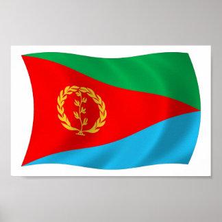 Eritrea-Flaggen-Plakat-Druck Poster