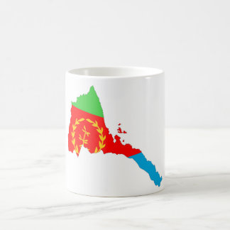 Eritrea-Landflaggen-Kartenform-Silhouette Kaffeetasse