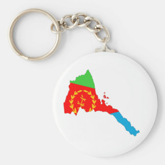 Eritrea-Landflaggen-Kartenform-Silhouette Schlüsselanhänger