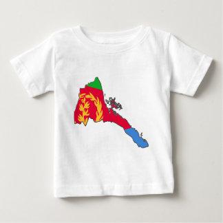 Eritria Flaggen-Karte Baby T-shirt