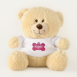 Erkennungsmarke heiraten Sie mich Teddybär