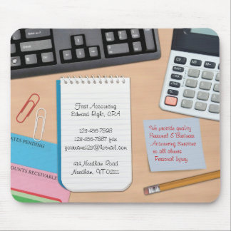 Erklären/Büro-Schreibtisch-Hintergrund Mousepad