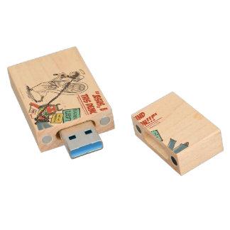 Erklären Sie geistige Kriegsführung! USB Holz USB Stick