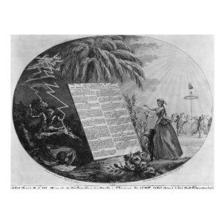 Erklärung der Rechte des Mannes Postkarte