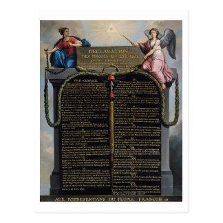 Erklärung der Rechte des Mannes und des Bürgers Postkarte