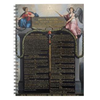 Erklärung der Rechte des Mannes und des Bürgers Spiral Notizbücher