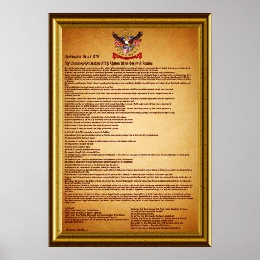 Erklärung von IndependenceV-1-Style-2 Plakatdrucke