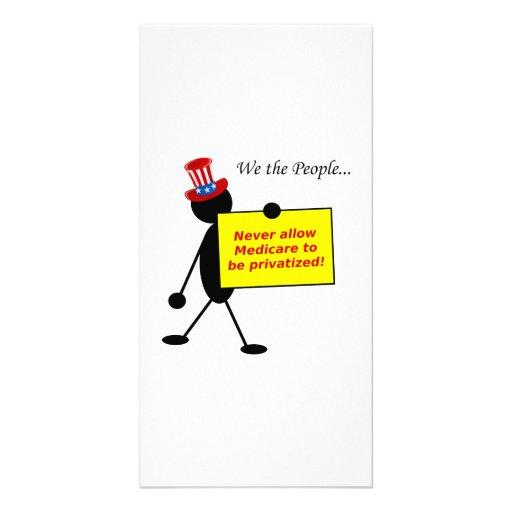 Erlauben Sie nie, dass Medicare privatisiert wird Individuelle Photo Karten
