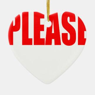 Erlaubniskirscheontop Ehemann-Ehefrau bitte fragen Keramik Herz-Ornament