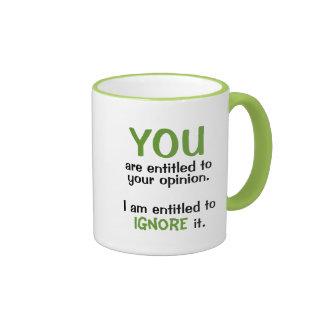 Erlaubt zu Ihrer Meinungs-lustigen Büro Ringer Tasse