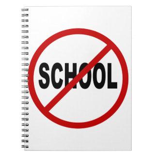 Erlaubte Zeichen-Aussage des Hass-School/No Schule Notizblock