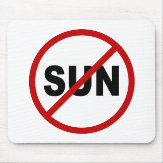 Erlaubte Zeichen-Aussage des Hass-Sun/No Sun Mousepad