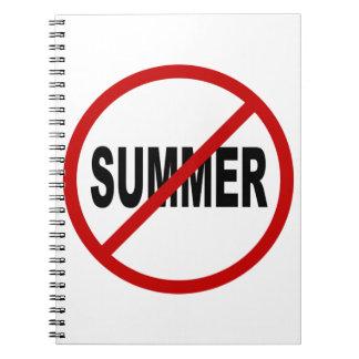 Erlaubte Zeichen-Aussage des Hass-Sunner/No Sommer Spiral Notizblock