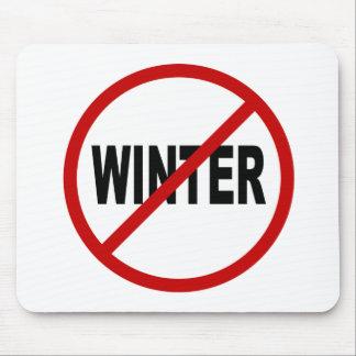 Erlaubte Zeichen-Aussage des Hass-Winter/No Winter Mousepad