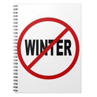 Erlaubte Zeichen-Aussage des Hass-Winter/No Winter Notizblock