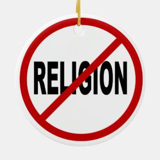 Erlaubte Zeichen-Aussage Hass-Religions-/No Keramik Ornament