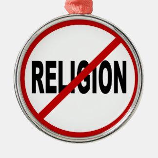 Erlaubte Zeichen-Aussage Hass-Religions-/No Silbernes Ornament
