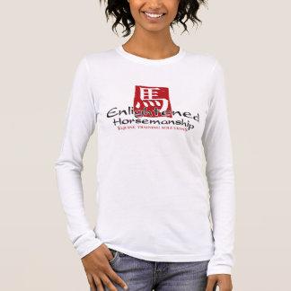 Erleuchtete Horsemanship-Logo-Vertikale Langarm T-Shirt
