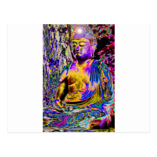Erleuchteter Buddha Postkarte