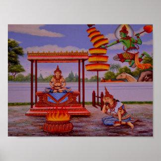 erleuchtetes Buddha-Plakat Poster