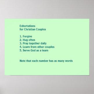 Ermahnungen für christliche Paare Poster