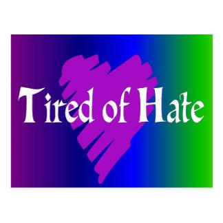 Ermüdet vom Hass Postkarte