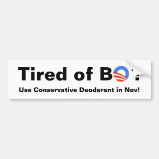 Ermüdet von BO! Autosticker