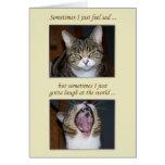 Ermutigung für eine Krankheit, niedliche Katze Grußkarten