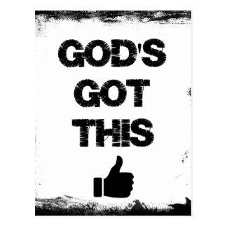 Ermutigung: Gottes dieses erhalten Postkarte