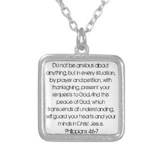 Ermutigungsbibel-Vers Philippians-4:6halskette Versilberte Kette