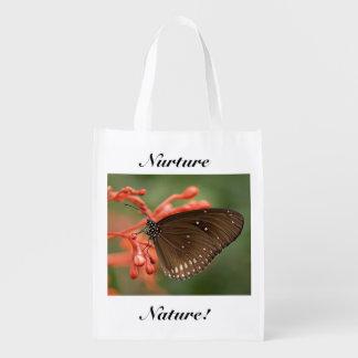 Ernähren Sie Natur-Schmetterling Einkaufsbeutel