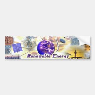 Erneuerbare Energie Autoaufkleber