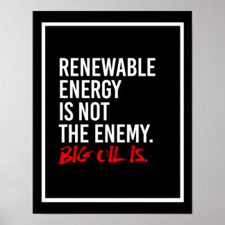 ERNEUERBARE ENERGIE IST NICHT der FEIND - - Poster