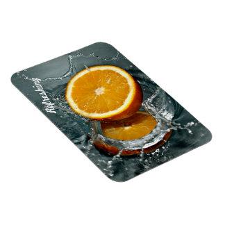 Erneuernder orange Fotomagnet Magnet