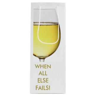 Erneuernder weißer Wein mit kundengerechtem Text Geschenktüte Für Weinflaschen