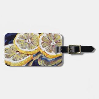 Erneuernzitronen-Scheiben Gepäckanhänger