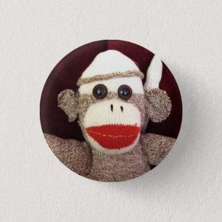 Ernie das Socken-Affe-Gesichts-Button Runder Button 2,5 Cm