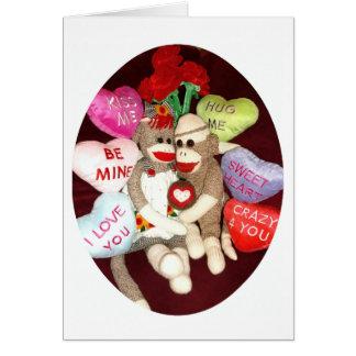 Ernie die Karte Socken-Affe-Liebevalentines Tages