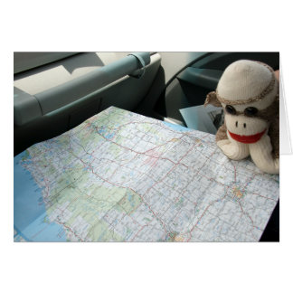 Ernie die Socken-Affe-Karten-Leseanmerkungs-Karte Karte