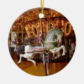 Ernie die Socken-Affe-Karussell-runde Verzierung Ornamente