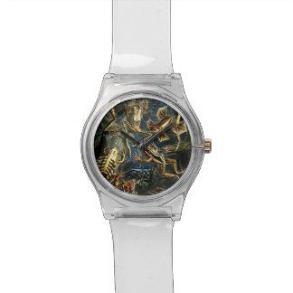 Ernst Haeckel-Amphibien-Frösche und Eidechsen Uhr