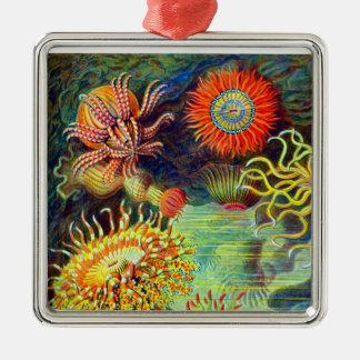 Ernst Haeckels Seeanemonen Silbernes Ornament