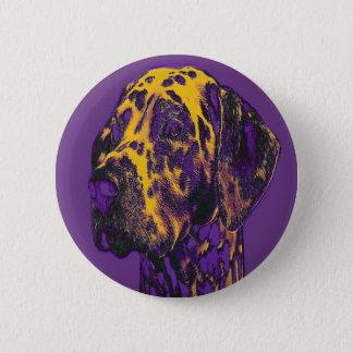 Ernster Dalmatiner. Standard, 2 ¼ Zoll-runder Runder Button 5,7 Cm