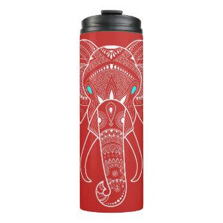 Ernster Elefant - rote thermische Trommel Thermosbecher