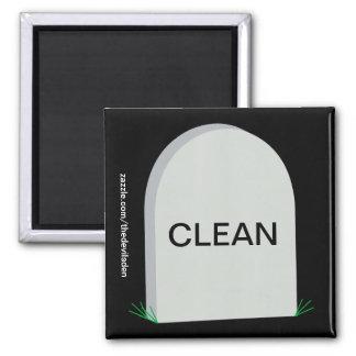 Ernster sauberer schmutziger Spülmaschinen-Magnet Quadratischer Magnet