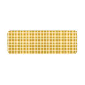 Ernte-Gold und weißer Gingham-Karo-kariertes