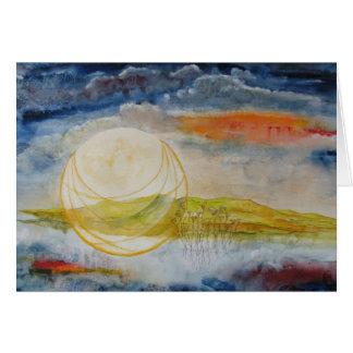 """Ernte-Mond-"" Anmerkungs-Karte Karte"