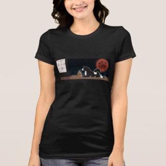 Ernte-Mond-T - Shirt die MARS der Frauen schwarzer